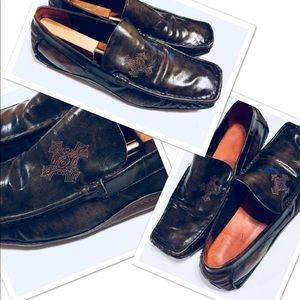 Robert Wayne Cross Logo Loafer Slayer Sz 16